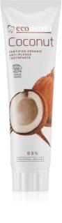 Ecodenta Cosmos Organic Coconut Οδοντόκρεμα χωρίς φθόριο για ενίσχυση σμάλτου δοντιών