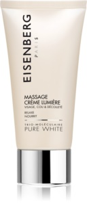Eisenberg Pure White Massage Crème Lumière Massage Facial Cream for Radiance and Hydration