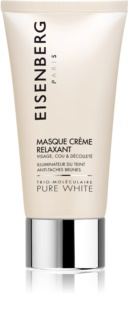 Eisenberg Pure White Masque Crème Relaxant Hydrating and Brightening Mask for Pigment Spots Correction