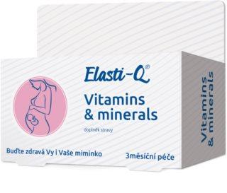 Elasti-Q Vitamins & Minerals s postupným uvolňováním komplex vitamínů a minerálů s postupným uvolňováním pro těhotné a kojící ženy