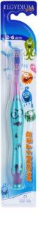 Elgydium Kids Monster zubná kefka pre deti