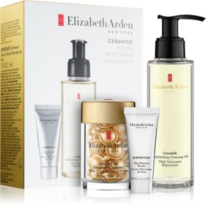 Elizabeth Arden Ceramide Replenshing Cleansing Oil Cosmetic Set I. (with Anti-Wrinkle Effect) for Women