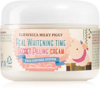 Elizavecca Milky Piggy Real Whitening Time Secret Pilling Cream Moisturizing Softening Cream with Exfoliating Effect