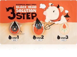 Elizavecca Milky Piggy 3 Step Black Head Solution Three-Phase Treatment for Blackheads