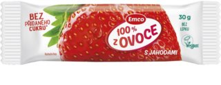 Emco 100 % z ovoce tyčinka s jahodami