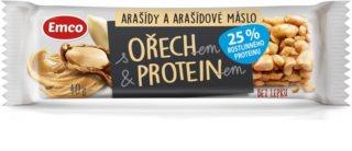 Emco Ořechové s proteinem tyčinka s arašídy a arašídovým máslem