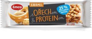 Emco Ořechové s proteinem tyčinka s karamelem