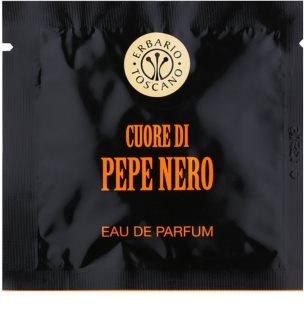 Erbario Toscano Black Pepper lingettes parfumées pour homme