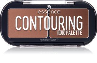 Essence Contouring Duo Palette paletka do konturowania twarzy