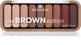 Essence The Brown Edition paletka očných tieňov
