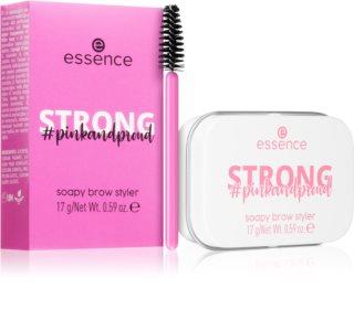Essence Pink and Proud Strong ceară de fixare pentru sprâncene cu pensula