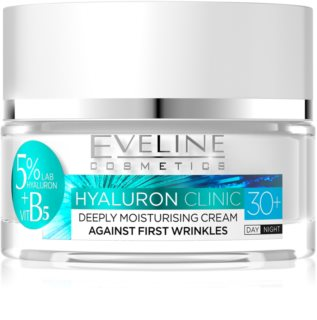 Eveline Cosmetics Hyaluron Clinic crème jour et nuit hydratante 30+