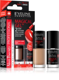 Eveline Cosmetics Nail Therapy Professional Gel Nail Varnish without UV/LED Sealing