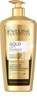 Eveline Cosmetics Gold Lift Expert tápláló testkrém aranytartalommal