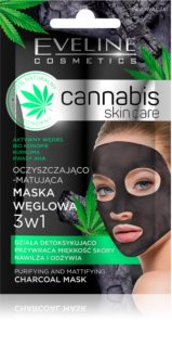 Eveline Cosmetics Cannabis reinigende Gesichtsmaske mit Tonmineralien