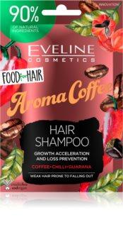Eveline Cosmetics Food for Hair Aroma Coffee krepilni šampon za oslabljene lase, ki so nagnjeni k izpadanju