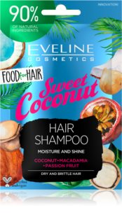 Eveline Cosmetics Food for Hair Sweet Coconut champô hidratante  para cabelo seco