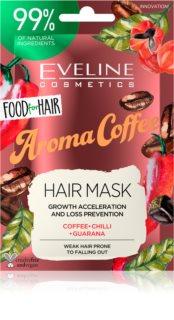 Eveline Cosmetics Food for Hair Aroma Coffee maschera rinforzante per capelli deboli con tendenza alla caduta