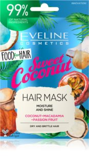 Eveline Cosmetics Food for Hair Sweet Coconut Máscara hidratante para o cabelo