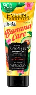 Eveline Cosmetics Food for Hair Banana ενυδατικό σαμπουάν για προστασία του χρώματος
