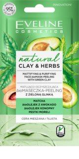 Eveline Cosmetics Natural Clay & Herbs čisticí jílová pleťová maska
