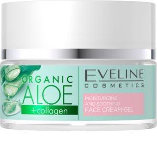 Eveline Cosmetics Organic Aloe Aktiivinen Intensiivinen Kosteuttava Geeli-Voide rauhoittava vaikutus