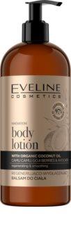 Eveline Cosmetics Organic Gold bálsamo corporal regenerador con aceite de coco