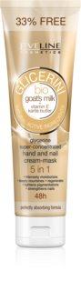 Eveline Cosmetics Glycerine крем для рук та нігтів з козячим молоком