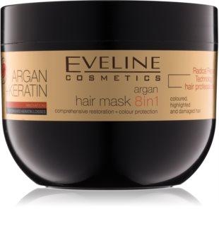 Eveline Cosmetics Argan + Keratin masque cheveux à la kératine et huile d'argan