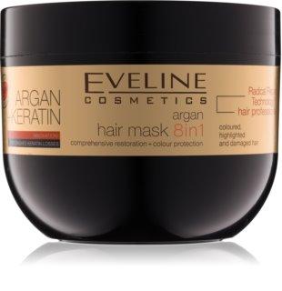 Eveline Cosmetics Argan + Keratin μάσκα μαλλιών με κερατίνη και λάδι αργκάν