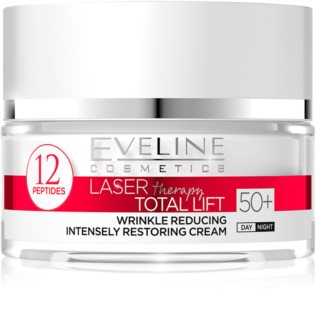 Eveline Cosmetics Laser Therapy Total Lift dnevna in nočna krema proti gubam 50+
