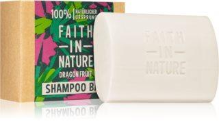 Faith In Nature Dragon Fruit Champú orgánico sólido para cabello teñido y dañado