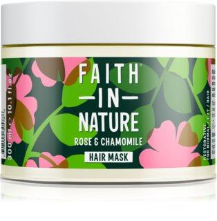 Faith In Nature Rose & Chamomile regeneruojamoji kaukė pažeistiems plaukams