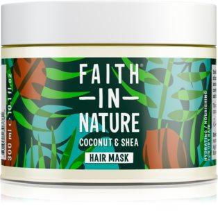 Faith In Nature Coconut & Shea maschera idratante per capelli rovinati e secchi