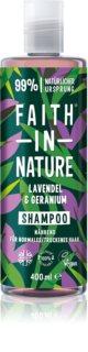 Faith In Nature Lavender & Geranium champú natural para cabello normal y seco