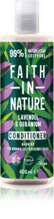 Faith In Nature Lavender & Geranium acondicionador natural para cabello normal y seco