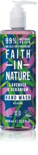 Faith In Nature Lavender & Geranium натуральне рідке мило для рук з ароматом лаванди