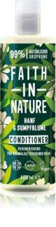 Faith In Nature Hemp & Meadowfoam Återställande balsam För normalt till torrt hår