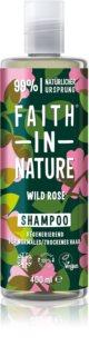 Faith In Nature Wild Rose champú regenerador para cabello normal y seco