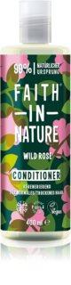 Faith In Nature Wild Rose acondicionador regenerador para cabello normal y seco