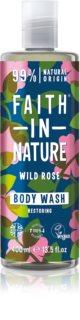 Faith In Nature Wild Rose přírodní sprchový gel pro obnovu kožní bariéry