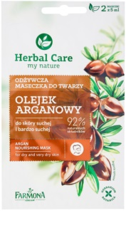 Farmona Herbal Care Argan Oil máscara nutritiva para pele seca a muito seca