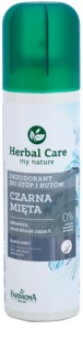 Farmona Herbal Care Black Mint deodorant ve spreji na nohy a do bot
