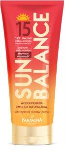 Farmona Sun Balance leche solar resistente al agua SPF 15