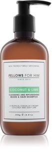 Fellows for Him Coconut & Lime šampon za kosu i bradu