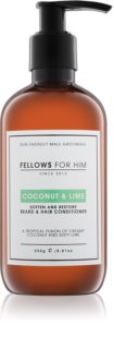 Fellows for Him Coconut & Lime kondicionér na vlasy a vousy