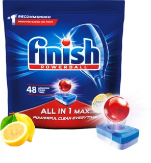 Finish All in 1 Max Lemon cápsulas para máquina de lavar louça