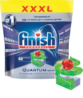 Finish Quantum Max Apple & Lime dishwasher tablets
