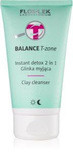 FlosLek Laboratorium Balance T-Zone čistilna emulzija in maska za mešano kožo
