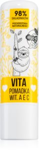 FlosLek Laboratorium Vege Lip Care Vita balzám na rty s vitamíny A, C, E